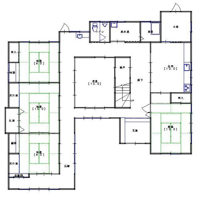 家の中心が廊下の間取りは悩み苦労を生み出す家相